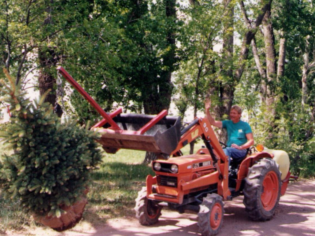 Terry On The Tractor 1990.